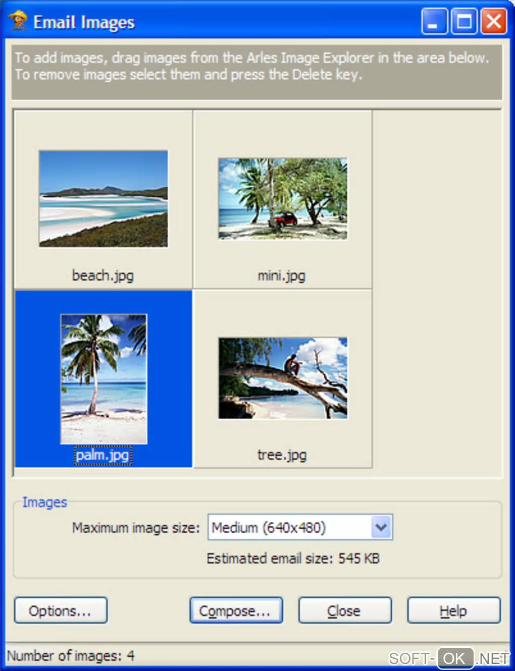 "The appearance ""Arles Image Web Page Creator"""