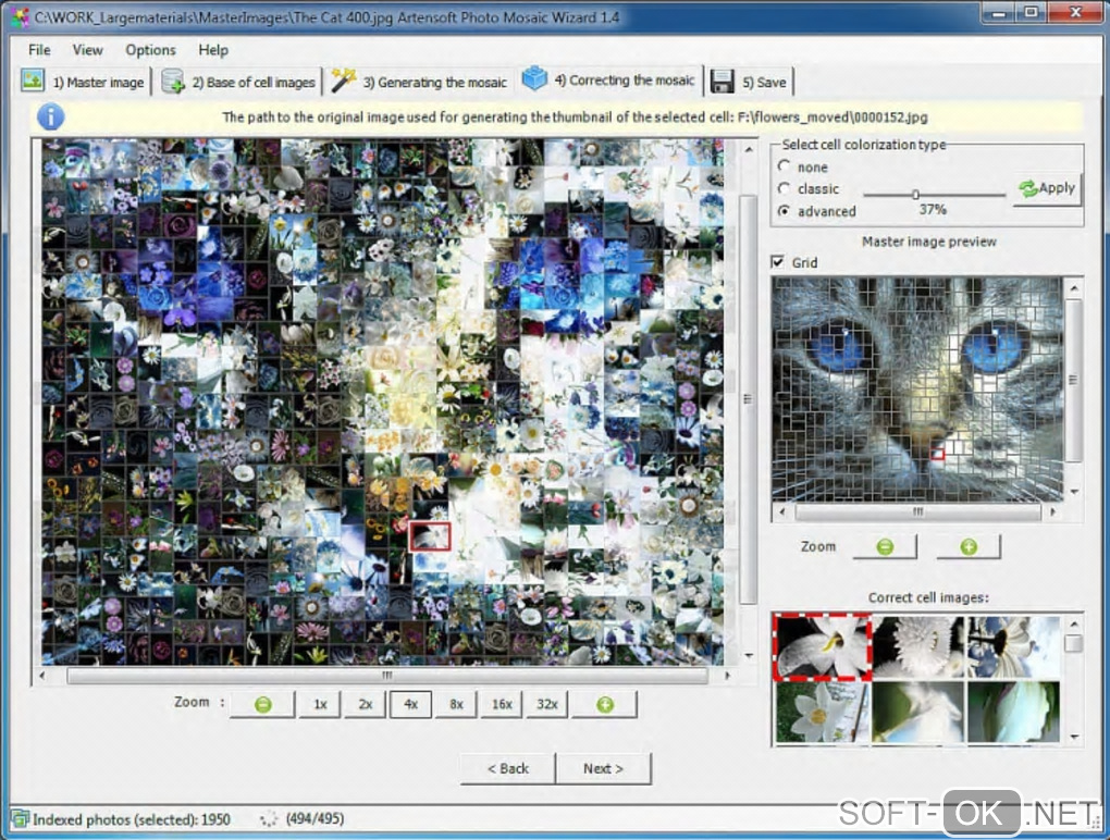 "Screenshot №1 ""Artensoft Photo Mosaic Wizard"""