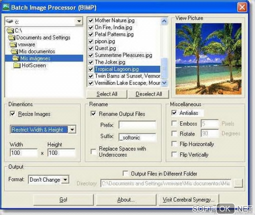 "Screenshot №1 ""BIMP (Batch Image Processor)"""