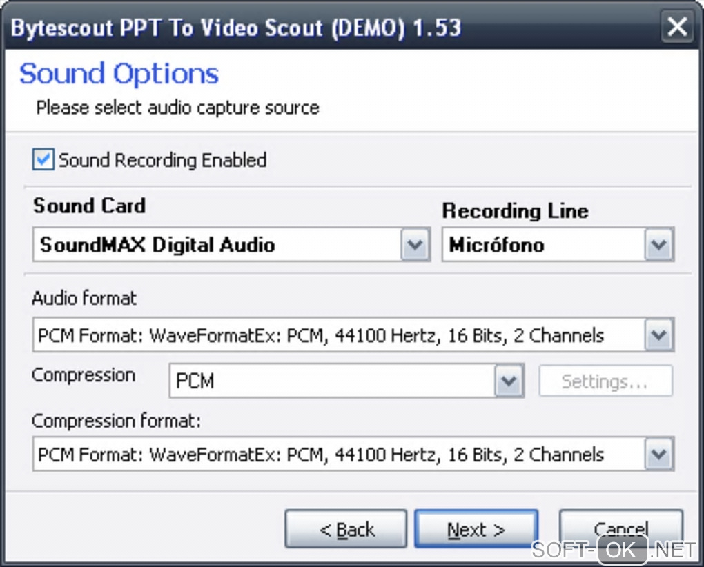 "Screenshot №2 ""Bytescout PPT To Video Scout"""