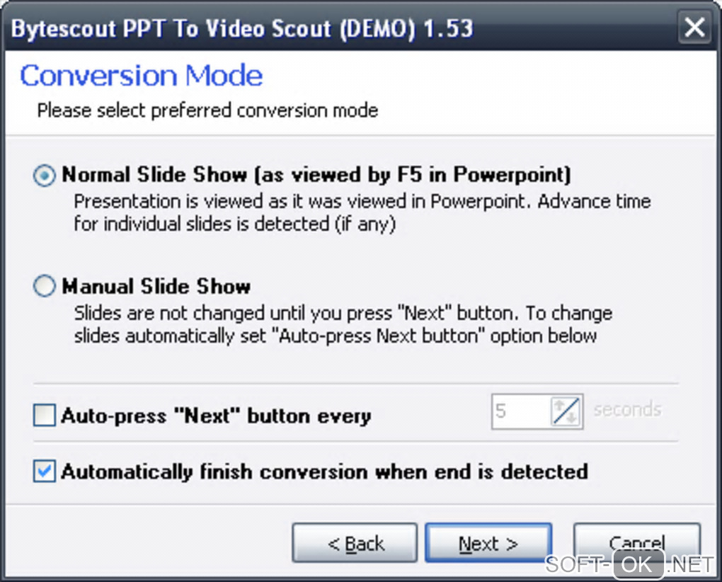 "The appearance ""Bytescout PPT To Video Scout"""