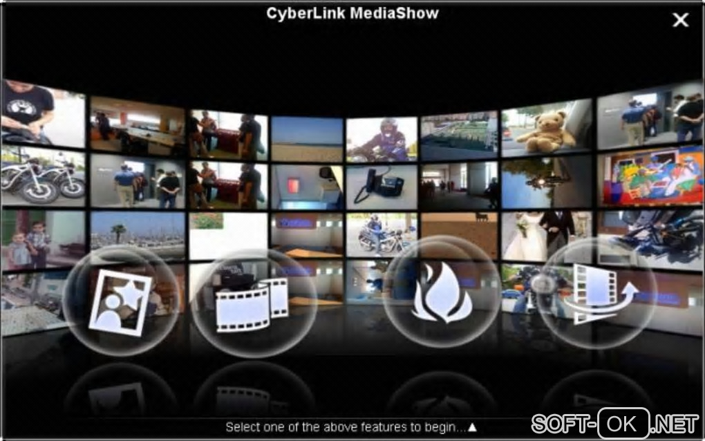"The appearance ""CyberLink MediaShow"""