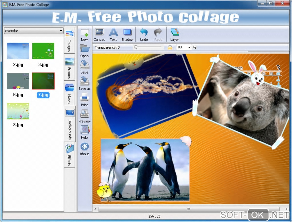 "The appearance ""E.M. Free Photo Collage"""