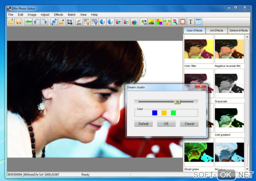 "Screenshot №2 ""Elfin Photo Editor"""