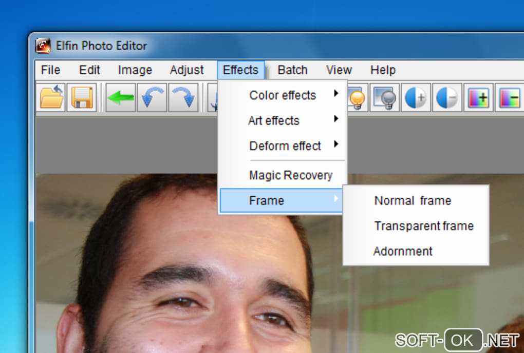 "The appearance ""Elfin Photo Editor"""