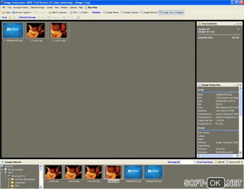 "The appearance ""Image Compressor"""