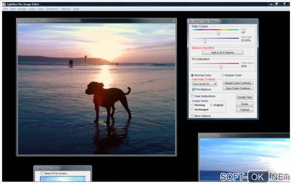 "The appearance ""LightBox Free Image Editor"""
