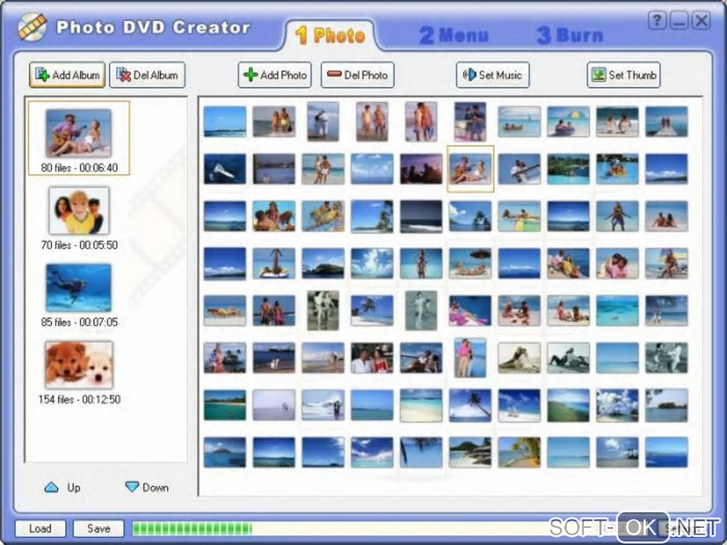 "Screenshot №1 ""Photo DVD Creator"""
