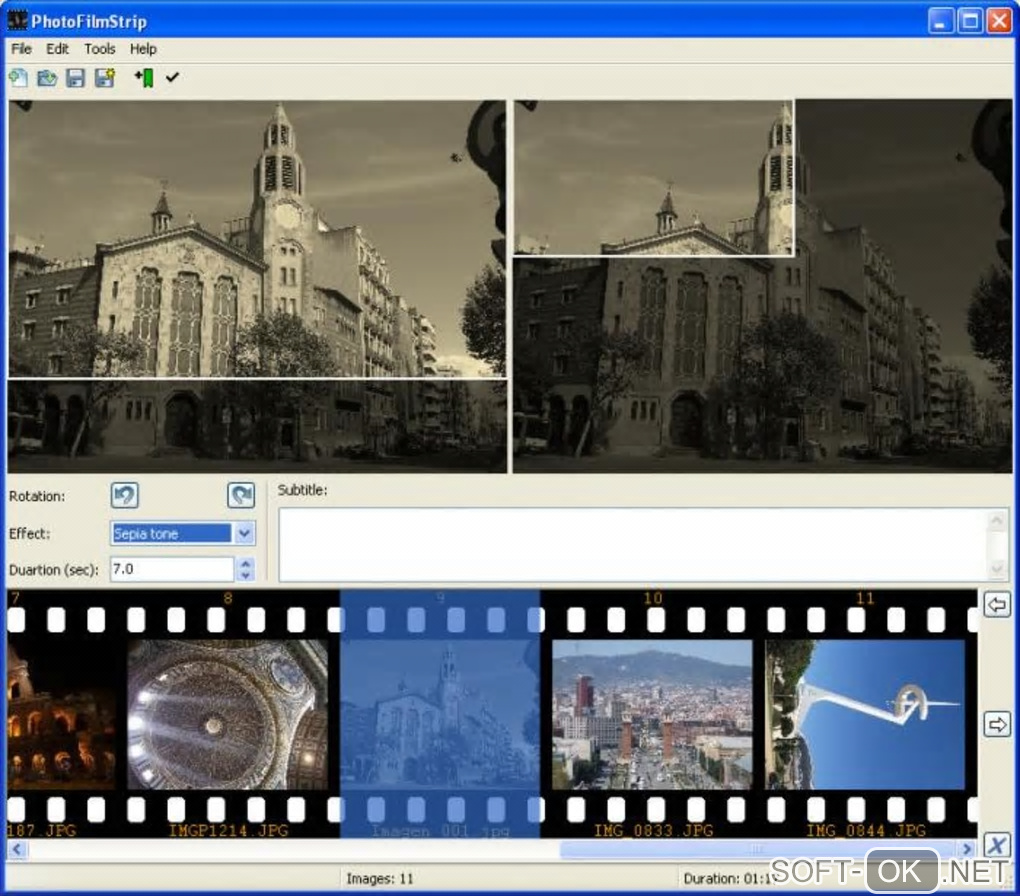 "Screenshot №1 ""PhotoFilmStrip"""