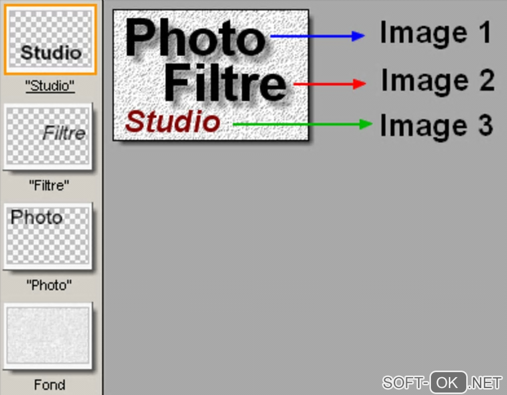 "The appearance ""PhotoFiltre Studio"""