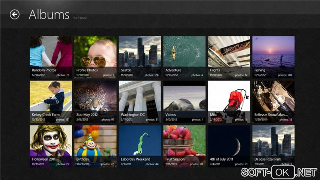 "The appearance ""Picasa Albums for Windows 10"""