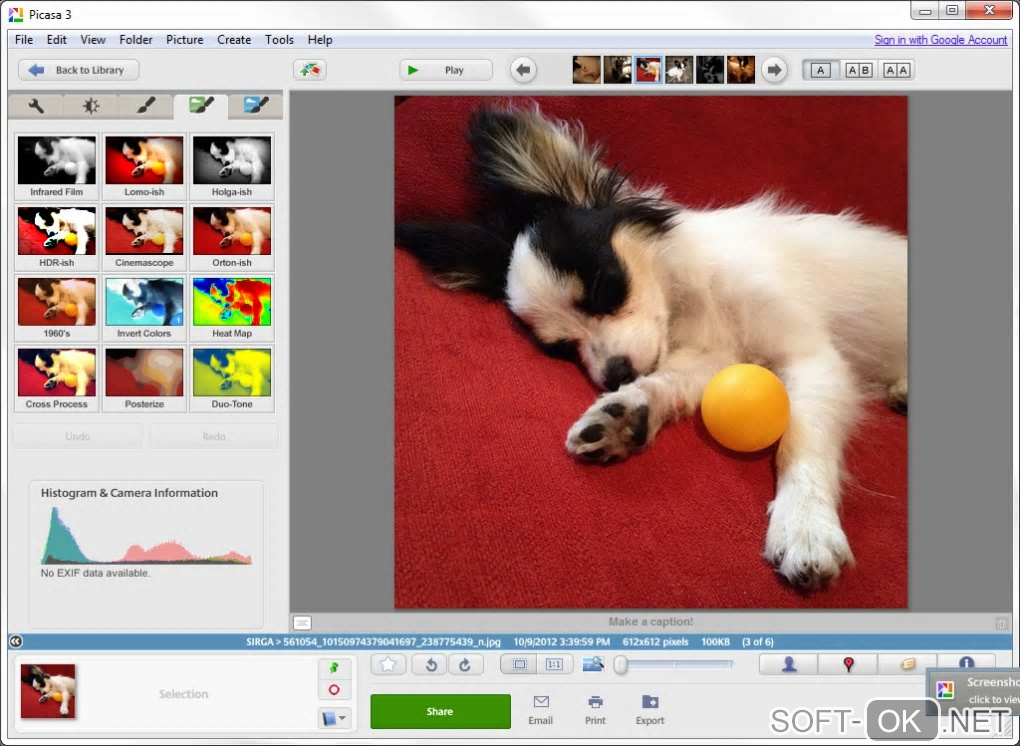 "Screenshot №2 ""Picasa"""