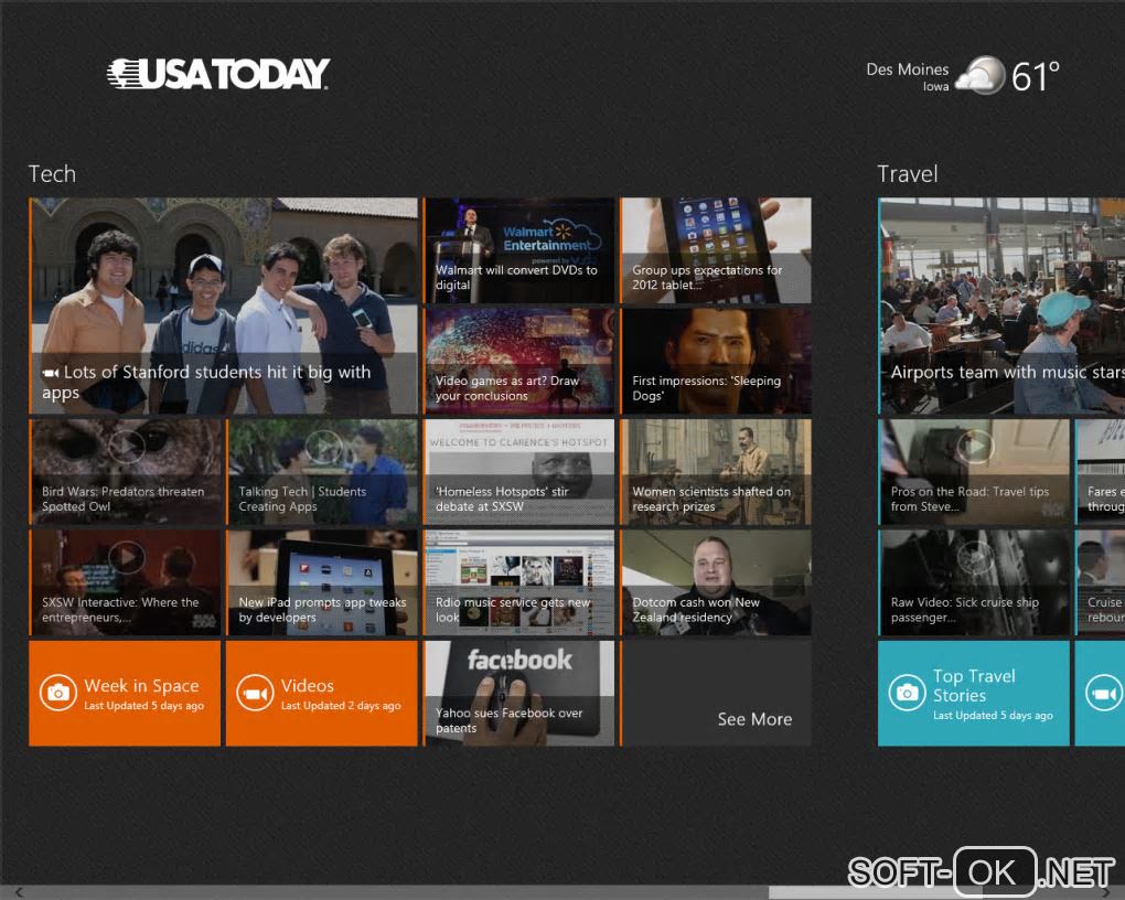 "Screenshot №1 ""USA Today for Windows 10"""