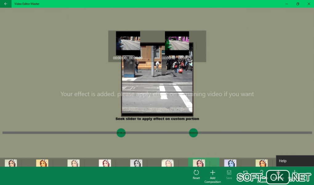 "Screenshot №1 ""Video Editor Master"""