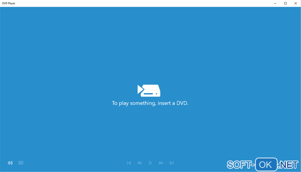 "Screenshot №1 ""Windows DVD Player"""
