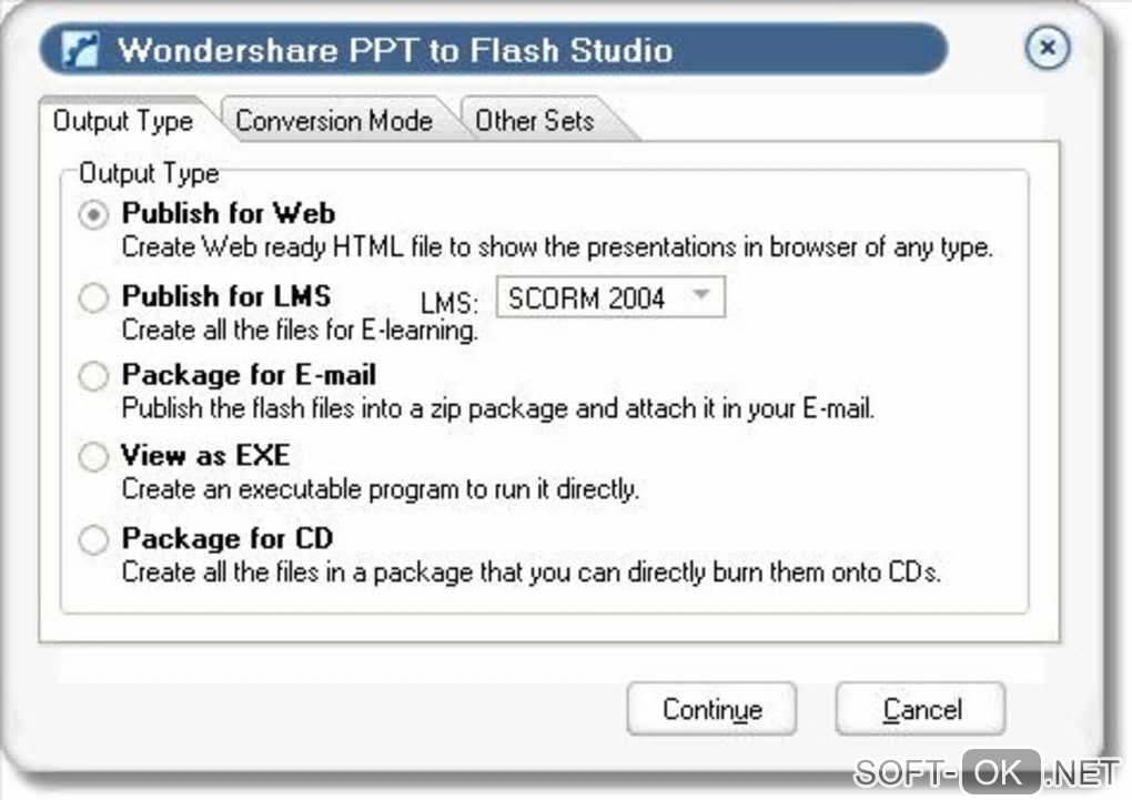 "Screenshot №2 ""Wondershare PPT to Flash Studio"""