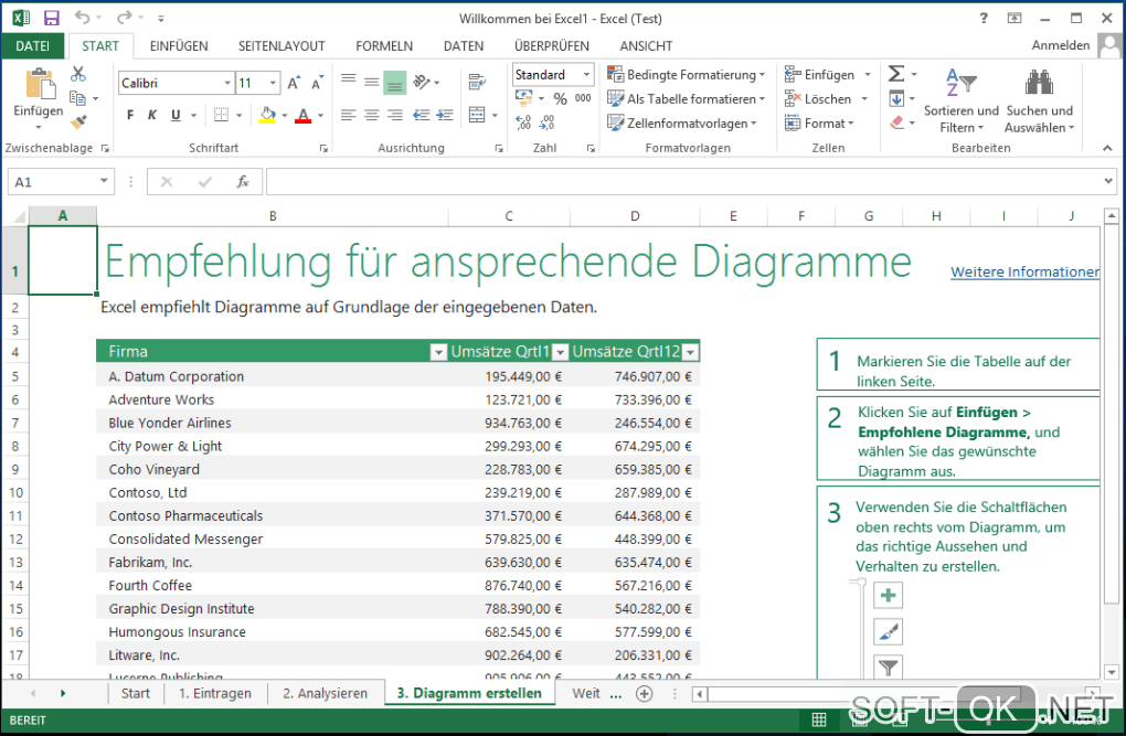 "The appearance ""Microsoft Excel 2013"""
