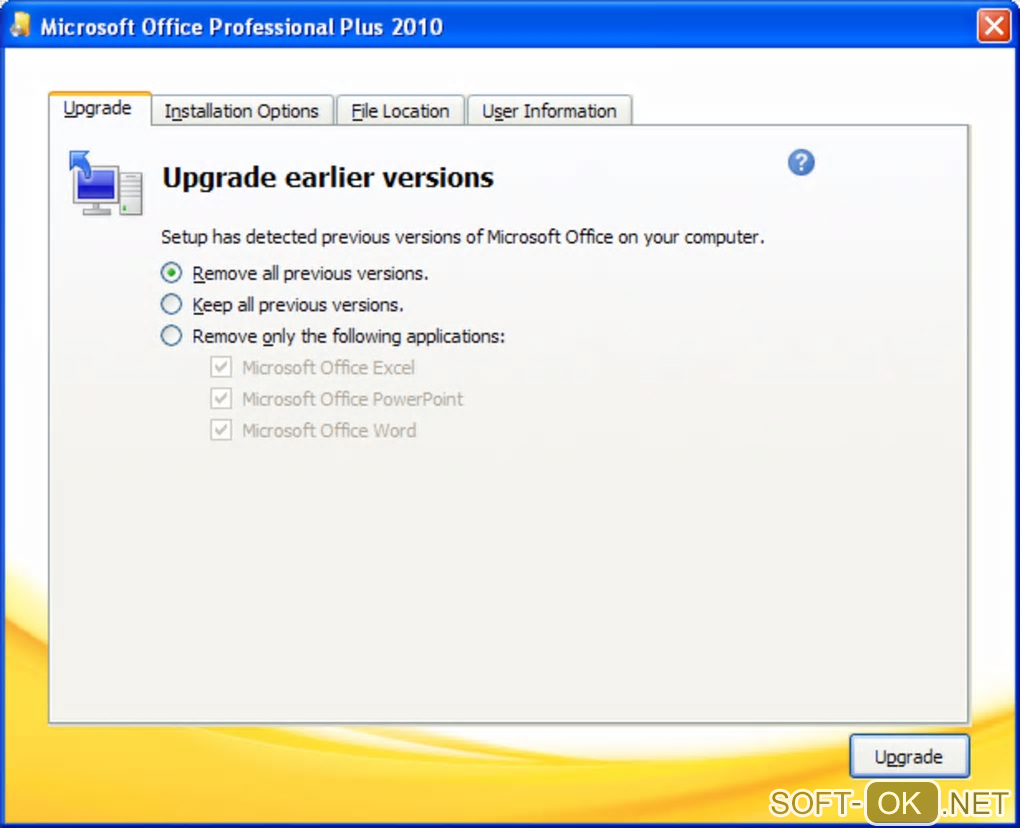 "The appearance ""Microsoft Office 2010"""